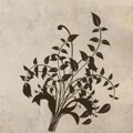 Samolepka na zeď Ornamenty z rostlin 014 (146418) - 1