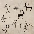 Samolepka na zeď Jeskynní lidé 005 (146190) - 1