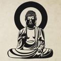 Samolepka na zeď Budha 001 (146097) - 1