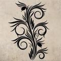 Samolepka na zeď Ornamenty z rostlin 031 (146434) - 1