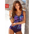 Plavky, LASCANA Lascana fialová s potiskem - košíček B (749700) - 1
