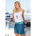 Beachtime Plážové šaty s dvouvrstvým vzhledem Beachtime bílá/tyrkysová/modrá (729485) - 2