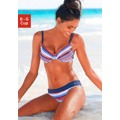 s.Oliver RED LABEL Beachwear Bikiny s kosticemi s.Oliver RED LABEL modrá-červená s proužky - košíček C (770250) - 1