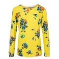 ASHLEY BROOKE by heine Jemne Pletený pulovr s květinovým designem Ashley Brooke by heine žlutá-pestrobarevná (760487) - 2