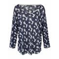 PATRIZIA DINI by Heine Vzorovaný pulovr s kulatým výstřihem Patrizia Dini by heine jeans/bilá (727936) - 1