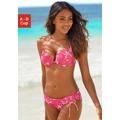 Bikinový top, Venice Beach Venice Beach pink/bílá - košíček A (751739) - 1