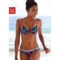Venice Beach Bikinový push-up top »Summer« Venice Beach námořnická modrá s potiskem - košíček A (752958) - 1