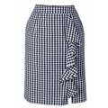 ASHLEY BROOKE by Heine Úzká sukně s volánkem Ashley Brooke by heine námořnická modrá-bílá (748541) - 1