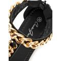 Vyšší černé sandály s řetězem Claudia Ghizzani (4242) - 4