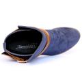 Kotníkové boty se zlatou sponou Timeless modré (4312) - 3