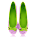 Pletené fialové baleríny Qube (4194) - 3