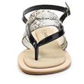 Šedé snake sandály Timeless s páskem mezi prsty (4181) - 3