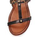 Hnědo-černé páskové vycházkové sandály Timeless (4138) - 4