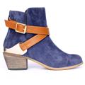 Kotníkové boty se zlatou sponou Timeless modré (4312) - 1