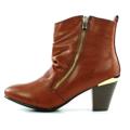 Brandy kotníkové boty na podpatku se zipem Claudia Ghizzani (4149) - 2
