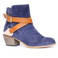 Kotníkové boty se zlatou sponou Timeless modré (4312) - 4