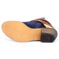 Kotníkové boty se zlatou sponou Timeless modré (4312) - 2