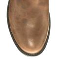 Kožené kotníkové boty Timeless se zlatou přezkou hnědé (4313) - 4