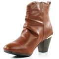 Brandy kotníkové boty na podpatku se zipem Claudia Ghizzani (4149) - 6