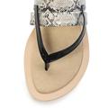 Šedé snake sandály Timeless s páskem mezi prsty (4181) - 2