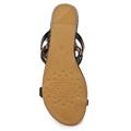 Hnědo-černé páskové vycházkové sandály Timeless (4138) - 6