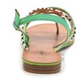 Barevné páskové zebra-snake sandály Timeless (4286) - 5
