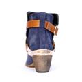 Kotníkové boty se zlatou sponou Timeless modré (4312) - 6