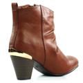 Brandy kotníkové boty na podpatku se zipem Claudia Ghizzani (4149) - 3