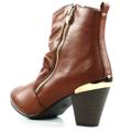 Brandy kotníkové boty na podpatku se zipem Claudia Ghizzani (4149) - 5
