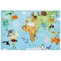 Dětský koberec Torino Kids 233 world map (597536) - 1