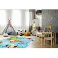 Dětský koberec Torino Kids 233 world map (597536) - 2