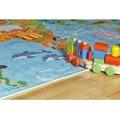 Dětský koberec Torino Kids 233 world map (597536) - 3