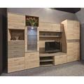 Obývací stěna SEMPRE, dub sanremo/cappucino lesk (371969) - 1