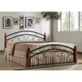 PARRIS, postel 180x200 s roštem, masiv/kov, třešeň antická (368564) - 1