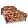 Čalouněná postel KARINA 120x200 cm, hnědožlutá látka (440915) - 1