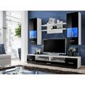 Smartshop RENNO, obývací stěna, bílá/černý lesk (368154) - 1