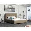 Smartshop Čalouněná postel SOFIE 1 140x200 cm s roštem, béžová látka (585623) - 1