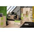 Smartshop  LORENTTO, rohová skříň L14, jasan/limetka (368723) - 5