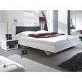 Smartshop VIERA ložnice s postelí 180x200, bílá/ořech černý (433394) - 2