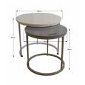 Příruční stolky 2v1 60x50cm v kombinaci bílé a šedé TK2148 (531379) - 2