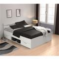 Manželská postel 160x200 cm bílá s úložným prostorem TK3005 (531182) - 1