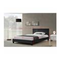 Manželská postel 180x200 cm s lamelovým roštem černá ekokůže TK3019 (531412) - 2