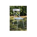 Židle kovová, barva bílá antik OBR764661 (363981) - 1
