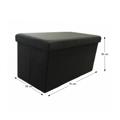 Menší skládací obdélníkový taburet šedé látky TK331 (531434) - 1