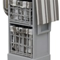 Žehlicí prkno, 2 košíky, šedá, BOND 1 (359544) - 5