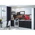 Kuchyňská linka 260 cm ART black stripe KN400 (476485) - 1