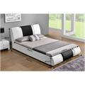 Moderní čalouněná postel s roštem 160x200 ekokůže bílá černá TK3128 (720921) - 2