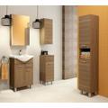 Vysoká koupelnová skříňka z lamina v provedení bílý lesk 30 cm F1297 (567246) - 3