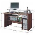 PC stolek v moderním dubovém dekoru PLUTO (348652) - 2