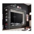 Moderní TV a media stěna v černém a bílém provedení s vysokým leskem TK110 (363512) - 1